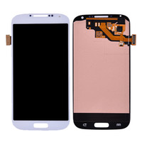 Wholesale For Samsung S4 LCD Display amp Touch Screen Digitizer for Samsung Galaxy SIV i9500 i9505 i337 i545 L720 M919 R970 Gray White Color
