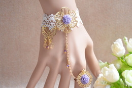 Finger Ring Bracelet Rural small and pure and fresh, lori hand chain golden butterfly bracelet ring chain to send his girlfriend lovely bra