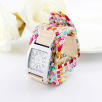 Wholesale New designer jewelry fashion equisite colorful weaving workable watch bracelets bangles for gifts