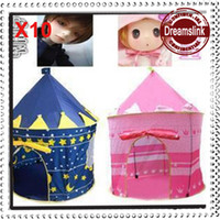 0-10Y Unisex  Wholesale-Children Kids Play Tent toy game play house princess castle palace baby beach tent