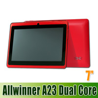 Wholesale Hotselling Inch Allwinner A23 tablet pc Q88 allwinner A23 Dual Core GHz Android WIFI MB GB Dual Camera waitingyou