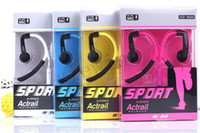 For Apple iPhone   New fashion IN-042 Ear-hook Running sport earphones with mic for mp3,mobile phones,ipad,mp3 free 100pcs lot