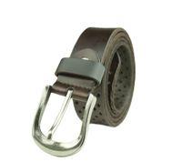 Mens Fashion Genuine Leather Belt Pin Buckle Waistband