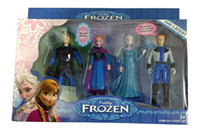 Wholesale New Frozen Figure Play Set Frozen Princess Anna Elsa figure set movie princess doll toy with colorful package sets L