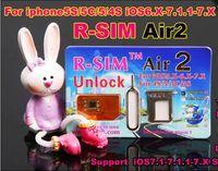 Wholesale New Original R SIM air RSIM air Unlock for iphone S C S G iOS6 X X Support US iOS7 Sprint AT amp T T mobile Cricket etc