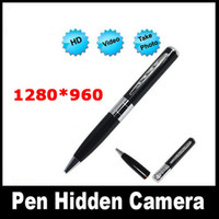 Wholesale Hot Selling HD X960 Mini Pen Camera DVR Hidden Video Recorder FPS Spy Pen Camera In Silver With Gift Box G G