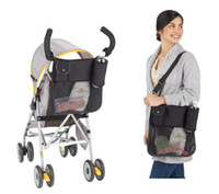Wholesale New Baby Stroller Storage Bags Color Black Dual Purpose Mummy Bags Carriage Bags Waterproof Hanging Bags Organizer MM43
