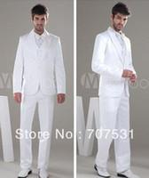 Men Pant Suit Formal White Popular Worsted Bow Groom Wedding Suit Men Suit Groom Wear WC-012