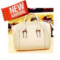 Wholesale 2014 New Arrived Women s Fashion Brief Crocodile Pattern Shoulder Bag lady Leather Bag