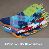 Sock colorful socks - combed cotton brand men socks colorful dress socks pairs