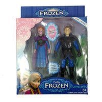 Wholesale New Frozen Figure Play Set Frozen Princess Anna Elsa figure set movie princess doll toy with colorful package styles sets L