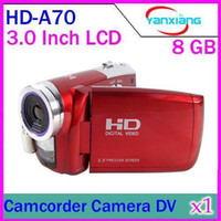 Wholesale DHL MP Digital video camcorder HD A70 Inch LCD Screen x Digital zoom red colour YX DV
