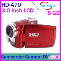 Wholesale DHL HD Digital Video Camera MP MAX inch TFT LCD screen SDHC Card up to GB HD A70 Camcorder Camera DV YX DV