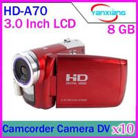Wholesale DHL incn screen Digital cmaera Digital video camcorder HD A70 mega pixel x Digital zoom YX DV