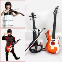 Wholesale New Kid Children Electronic violin Hand Guitar Metal Instrument Toy Child Musical Instrument Bundle Music Toy