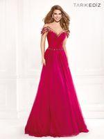 Reference Images Sweetheart Tulle Tarik Ediz Elegant Evening Dresses A Line Sweetheart Backless Beaded Tulle Formal Gowns Celebrity Dresses Free Shipping