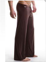 Wholesale Sexy Men S Pajamas - Brand New 2016 Modal silk soft Men Sport Yoga Pants Sleep bottoms N2N men sexy long underwear long johns thermal men sleepwear Pajamas short