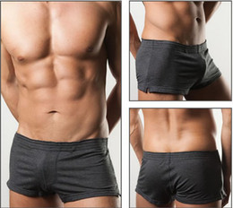 Wholesale 2pcs Brands Fashion Arrow pants leisurewear sport cotton Men cuecas boxer Underwear boxer Shorts trunks mens underwear