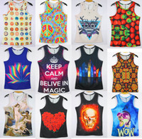 Wholesale New fashion Women Men Animal D Sleeveless t shirts d Vest Tanks Tops Tees plus size M XXL