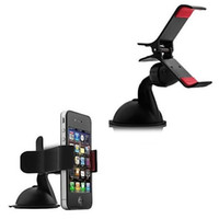 Wholesale Auto Mobile Phone Holder Degrees Rotation Car Windshield Sucker Mount Bracket for iPhone Mobile Phone GPS PDA Universal Accessories