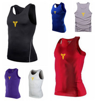 Wholesale MEN S Branded PRO HEATGEAR Fitted Gym Training Squeeze COMPRESSION Sleeveless stretchy Sport Vest Tank Tee T Shirts with LOGO