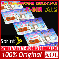 Wholesale The first one support iOS7 Sprint card R SIM Air R SIM Air Unlock Card for iphone S S C iOS6 X iOS7 X