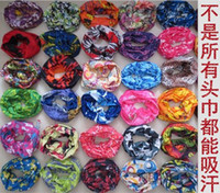 Wholesale Outdoor seamless magic ride magic anti UV bandana hip hop anti uv multifunctional bandana drop shipping Bandanas buff