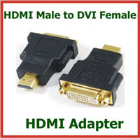 Adapter HDMI  10pcs HDMI Male to DVI Female 24+5pin Adapter HDMI Extend Cable Converter for HDTV LCD Connector