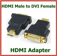 Adapter HDMI  50pcs HDMI Male to DVI Female 24+5pin Adapter HDMI Extend Cable Converter for HDTV LCD Connector
