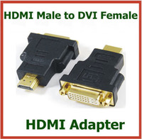 Adapter HDMI  200pcs Adapter HDMI Male to DVI Female 24+5pin HDMI Extend Cable Converter for HDTV LCD Connector DHL