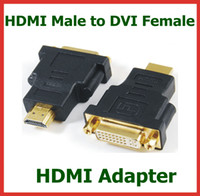 Adapter HDMI  500pcs Adapter HDMI Male to DVI Female 24+5pin HDMI Extend Cable Converter for HDTV LCD Connector DHL Wholesale