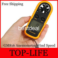 1 Year bath thermometer digital - GM816 Inch LCD Handheld Pocket Digital Anemometer Wind Speed Air Flow Meter Temperature Gauge Thermometer