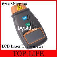 Wholesale 7031 Photo Tachometer Digital LCD Laser Tachometer Non Contact RPM Tach to RPM