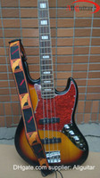 Wholesale 4 Strings Bass JAZZ BASS Vintage Sunburst Electric Bass China Bass FREE Strap