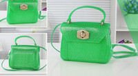 Wholesale 2014 New Jelly bag Women s small shoulder bag cross body handbags High quality candy totes bag green day clutch Evening bags