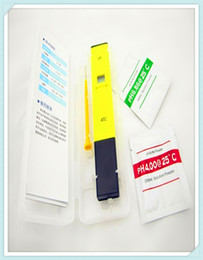 Wholesale hot high quality Digital PH Meter Tester Pocket Pen Aquarium Pool laboComing With Carry Box by Singapore post