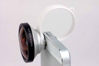 Universal   Wholesale - 5pcs lot, Universal 180 Circle Clip Fisheye Fish eye Lens for iphone 4 4S 5 5S samsung HTC All camera Mobile Phone,FreeShipping