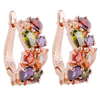 Wholesale Crazying Jewellery colourful sapphire K Gold Plated stunds Earrings for gift pair