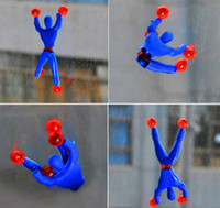 Wholesale 50PCS Somersault Villain Climbing A Wall Spider Man Spider Variant Child toy Superhuman Climb Wall Spiders Toys a307