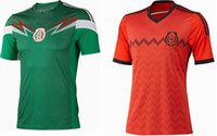 Wholesale Thai Quality World Cup Mexico Home amp Away Soccer Jerseys Blank Soccer Wears Hot Sellers National Football Uniforms OFF ON SALE