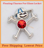 Charms   Free shipping 2014 new style zinc alloy Red Birthstone Boy floating charms for living glass lockets FC383