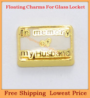 Charms   Free shipping 2014 new In memory of my Husband floating charms for living glass memory glass lockets FC388