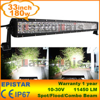 "33"" Inch 180W LED Work Working Driving Light Bar for Bo..."