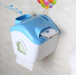 Wholesale Creative versatile waterproof roll holder flying Pixar waterproof roll paper holder toilet paper boxes on the phone megaphone a308