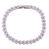 Wholesale Design from Rome AAA Cubic Zirconia Stones Paved Bracelet cm