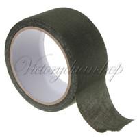 Wholesale 5cmX10m Camo Fabric Tactical Tape Gun Wrap Waterproof Insulated Camouflage Cloths Ootdoor Sport Shooting Hunting