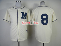 Wholesale Retro Baseball Jerseys Brewers Authentic Ryan Braun Turn Back The Clock Jersey High Quality Milwaukee Team Sports Jerseys for Sale