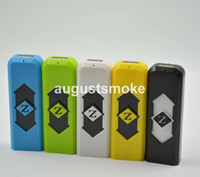Wholesale Portable USB lighter Electronic Rechargeable Battery Cigarette Flameless Lighter Power Battery Cigarette with display box smoking pipe sneak