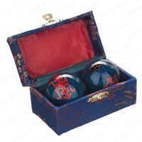 baoding balls exercises - Cloisonne Health Exercise Stress Baoding Balls Longevity Blue