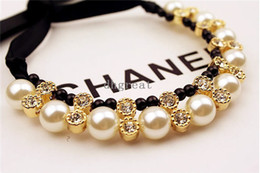 Wholesale Hot sale Ladies Bib Choker Jewellery Pearl Necklace Pendant Statement Necklaces pearl necklace